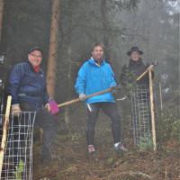 Im Bild (von links): Bürgermeisterkandidat Michael Stumpf, Stadtratskandidat Klaus Kapp und Stadtrat Bernd Leisch